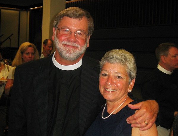 The Rev. Mark Warter and his wife Edie