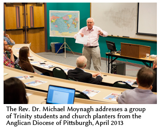 Rev Dr Michael Moynagh in the classroom